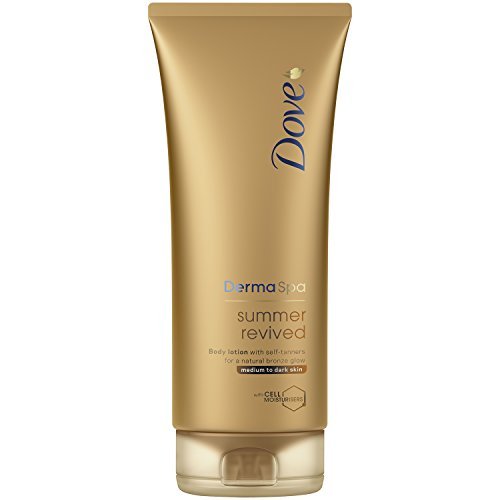 Dove Derma Spa Summer Revived Medium to Dark Skin Body Lotion 200 ml by Dove (Gesicht Spa-lotion)
