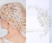 Bridal Hair Comb - Wedding Hair Comb Clip Silver Rhinestone Pearl Hair Accessories Wedding Accessories for Bride Bridesmaid
