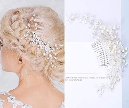 Haarschmuck Brautschmuck Haarnadeln - Art und Weise Retro Elegante Damen Perlenrhinestone Haarclip Hochzeit Brautschmuck Braut Haar Zubehör