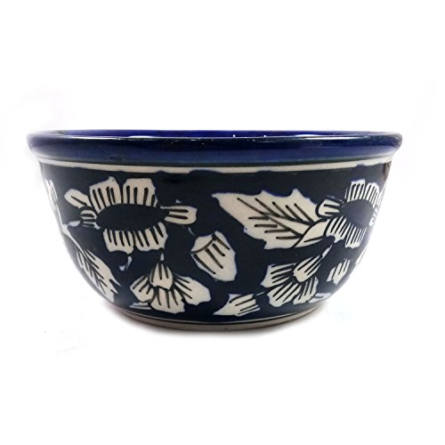 India Meets India Thanksgiving Handicraft Ceramic Serving Bowl Mixing Bowls Fruit Bowl Salad Bowl Snack Bowl,300ml, Best Gifting, Made by Awarded Indian Artisan