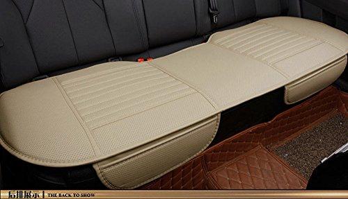 Preisvergleich Produktbild EDEALYN 53 * 19.5 inches PU Leder Vordersitzbezug Autositzkissenbezug Auto Innensitzbezüge Auflage Matte für Auto Auto-Büro Stuhl (Rücksitzabdeckung - Beige)