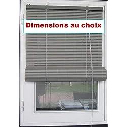 Store fenêtre enrouleur PVC, couleur au choix, 5 tailles, Intérieur et Extérieur, de MadeInNature® (Gris Largeur 90 cm Longueur 180 cm)