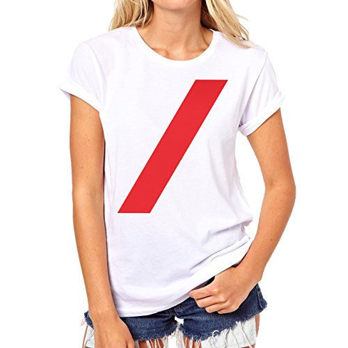 SWAG Red Shtrich Damen T-Shirt Weiß