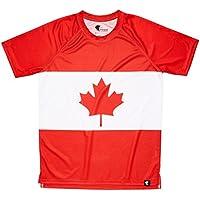 Camiseta Canada Niño, Niña, Manga Corta, Running, Gimnasio #MapleLeaf Talla 8