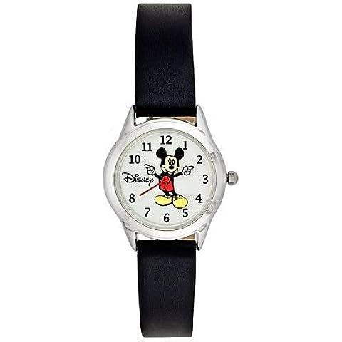 Disney Mickey Mouse Mujer Movimiento manos reloj con correa de piel mck873