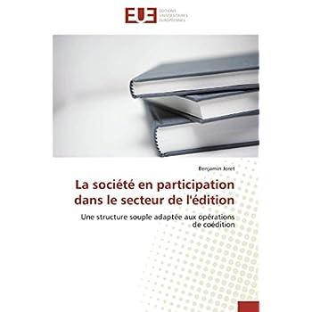 La société en participation dans le secteur de l'édition