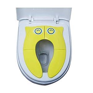 Newin Star Reutilizable búho cubierta de asiento de inodoro Slip viaje del cojín WC plegable lindo ir al baño para no…