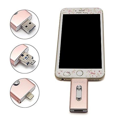 Tipmant High Capacity-Mobiltelefon -USB-Flash-Laufwerk 32 GB i-Flash-U-Disk-Memory Stick Pendrive für Computer, iPhone & iPad-Serie und Android Smart-Phone Series -