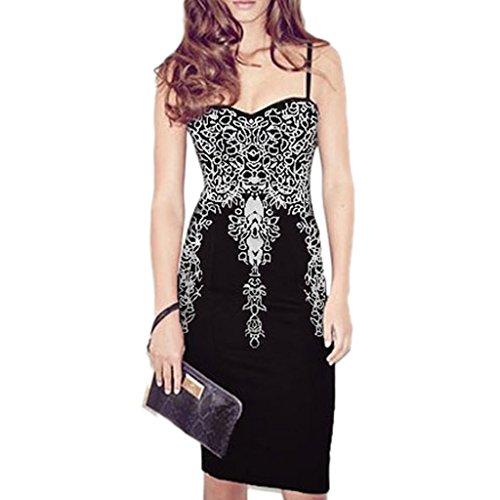 ABILIO - vestito donna tubino nero abito elegante donna vestitino festa cerimonia Nero