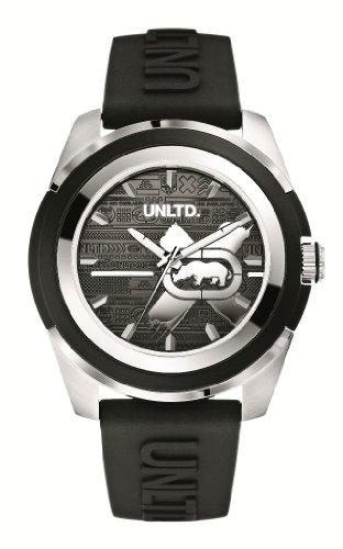 Marc Ecko E09531G1 - Reloj analógico de cuarzo para hombre con correa de silicona, color negro