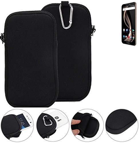K-S-Trade Neopren Hülle für Allview X4 Soul Infinity Z Schutzhülle Neoprenhülle Sleeve Handyhülle Schutz Hülle Handy Gürtel Tasche Case Handytasche schwarz