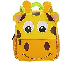 Vicloon Nursery Kids Zaini Bambino Toddle Scuola Borsa Zoo Borsa Pranzo 3D Disegni Animati Disegni Zainetto Fumetto Prescolare per 1-5 Anni Ragazzi e Ragazze