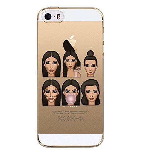 Kimoji Handyhülle, Case, Bumper durchsichtig, iPhone SE 5S 5 #4