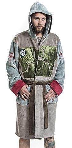 Peignoir Boba Fett linge pour la maison de Star Wars Star Wars Peignoir mixte de Chambre avec broderie robe maison avec capuche et ceinture taille unique pour
