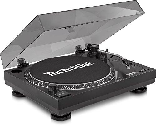 TechniSat TECHNIPLAYER LP 300 - Profi-USB-DJ-Plattenspieler mit Scratch-Funktion und Digitalisierungsfunktion (Drehzahl: 33/45 U/min, Quarzgesteuerter Direktantrieb, Aluminiumguss-Plattenteller) schwarz