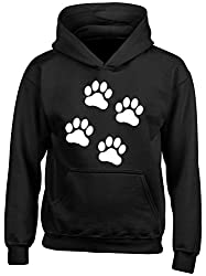 Shopagift Dog Paw Foot Prints Kids Childrens Hooded Top Hoodie