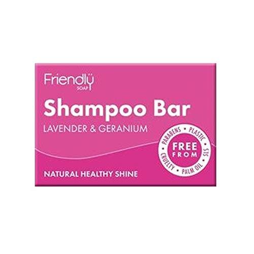 Natural Soap Bar (Friendly Soap Natural Shampoo Bar Lavender & Geranium 95g)