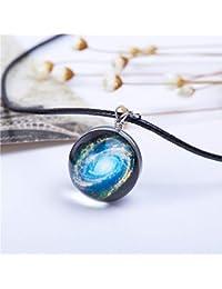 CTGVH Collar Colgante de Galaxia, 1 PCS Collar Colgante de Cristal Joyería Universo Galaxia Bola