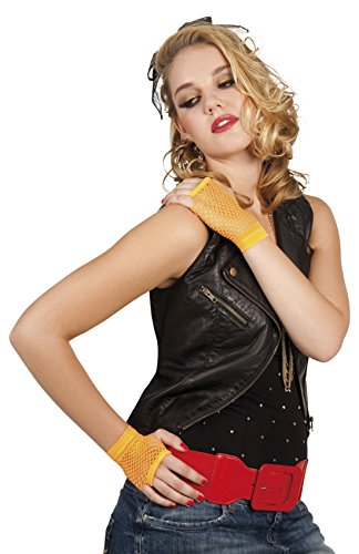 erdbeerloft - Kurze Netzhandschuhe Neon, (Jahre 90er Madonna Kostüm)