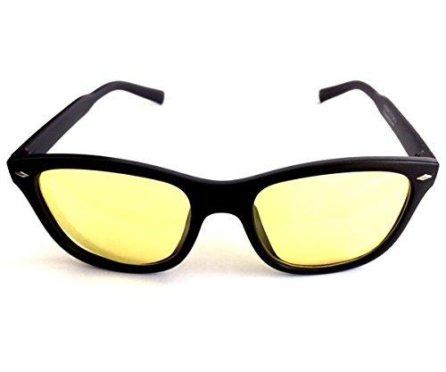 Nachtsichtbrille im Retro-Look | Kontrastbrille | Nachtfahrbrille | Nachtbrille
