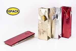 Florio Vino Medida 13 x 36 cm - Paquete de 10 Unidades Shoppers Regalo, Multicolor, 8001294870609