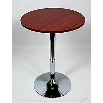Amazon.de: Bistro-Tisch, holzfarbe, runde Holzplatte