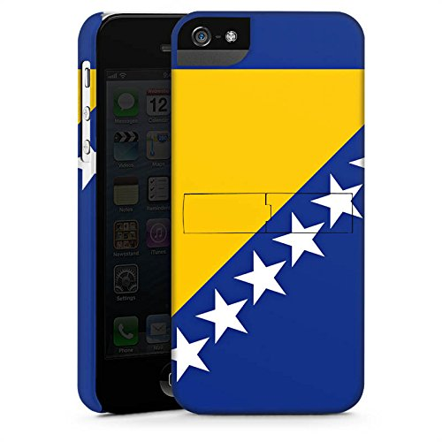 Apple iPhone X Silikon Hülle Case Schutzhülle Bosnien Flagge Fußball Premium Case StandUp