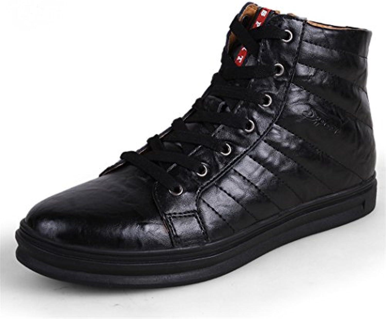 HHY Komfortabel und breathableHigh Hilfe tide Schuhe Herren Schuhe aus Leder von Englands Männer Leder große code