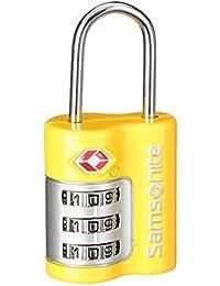 Samsonite Candado de Combinación con 3 Dígitos para Viajar a EE.UU, 14 cm