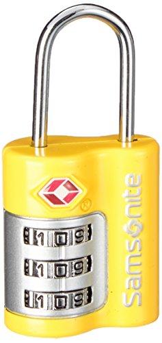 Samsonite Travel Accessories Us Air Tr3dial Combilock Lucchetto per Valigie, Giallo, 7 cm