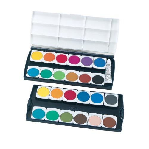 Herlitz 10199933 Schulmalfarben bzw. Deckfarbkasten, 24 Farben inklusive Deckweiß - 2