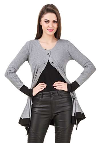 Texco Women\'s Blended Round Neck Shrug(TC00D00147-L, Grey)
