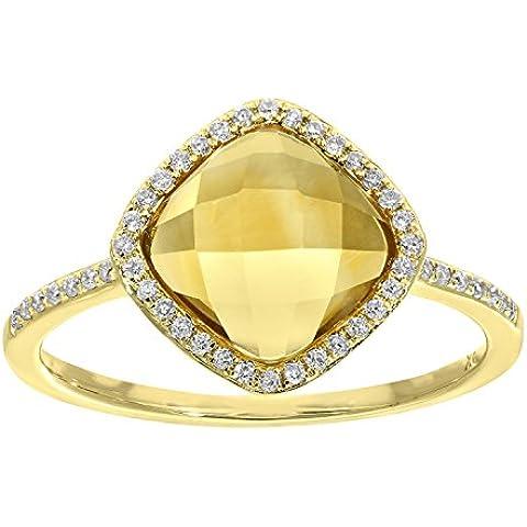 Naava Donna  9 carati  oro giallo cuscino   arancione Quarzo citrino FINERING