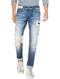 Salsa - Jeans 1st Level avec applications et déchirures - Homme