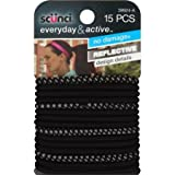 Scunci Everyday & Active Hair Ties, Black, 15 count by Scunci
