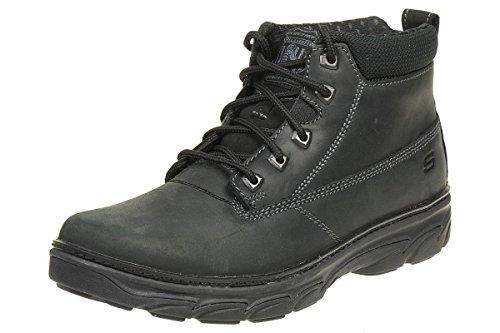 Skechers RESMENT ALENTO Herren Stiefel Outdoor Schuhe Leder BBK, Schuhgröße:EUR 45 (Leder Fashion Stiefel Skechers)