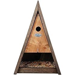 Esschert NK47 - Casa para pájaros (madera), color marrón