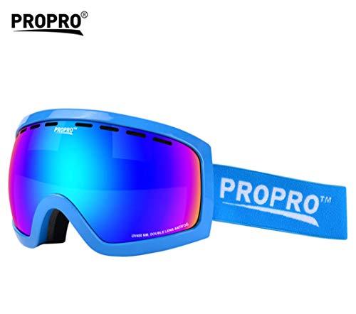 Doppelte Anti-Fog- und Windproof-Skibrille, Schneespiegel, Outdoor-Brille, Cola-Myopie, geeignet für Männer und Frauen,D