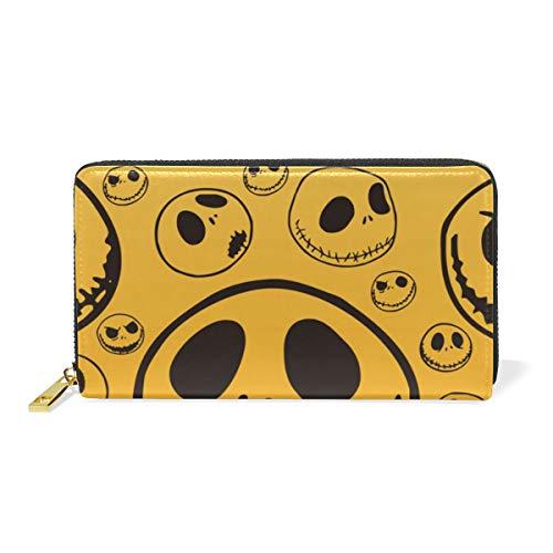 dbörse Geldbörse Funny Jack Skellington Clutch Bag Zipper Leather ()