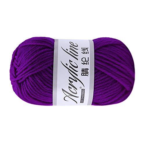 LCLrute 50g Milch Baumwolle Garn Baumwolle Chunky Hand-Gewebt Häkeln Stricken Wolle Garn Warme Weiche Garn Für Pullover Hüte schals DIY (A) - Chunky Wolle Pullover