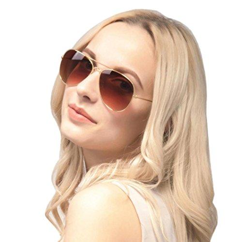 Preisvergleich Produktbild 2018 Neu Sonnenbrillen Rosennie Heiße Männer und Frauen Klassische Sonnenbrillen Damen Classic Vintage Metall Gespiegelt Objektiv Eyewear Steampunk Stil und Runde Spiegelglas Katzenaugen Brille (E)