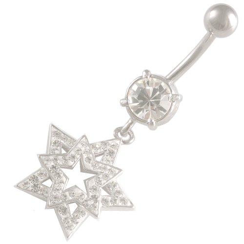 bodyjewelry New Ferido BL-CR-324-Clear-Weiß Klar