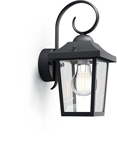 41 67 philips luminaire extrieur applique buzzard black for Luminaire exterieur philips