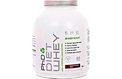 PhD Nutrition Diet Whey Protein 2kg,High protein low carb whey protein, Ideal for people following a weight loss program. (Belgian Choc) by PhD Nutrition