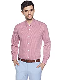 Louis Philippe Men's Geometric Print Slim Fit Formal Shirt