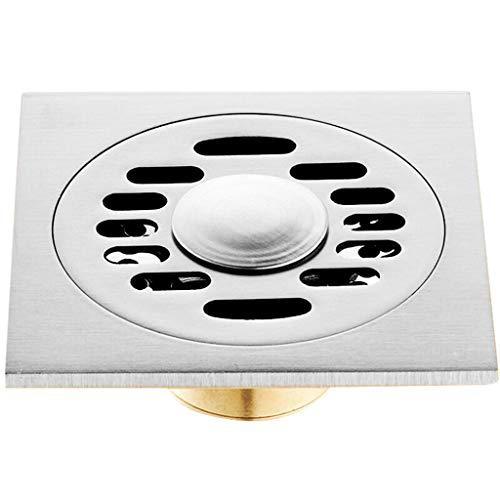 fallrohr abdichten LXDXKA Kupfer Bodenablauf Automatische geschlossene Waschmaschine Badezimmer Küche Doppel-Drain Bodenablauf Gold Silber (Farbe : D)