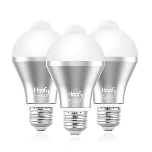 Lichtsensor Lampe, Haofy Smart Gl¨¹hbirne E27 9W Sensor Lampe Birne D?mmerungssensor Lampe Nachtlicht LED Birnen f¨¹r Veranda, Patio, Garage, Keller, Flur £¨3Pack£© -