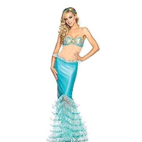 Mermaid Costume - CHIC-CHIC Halloween Cadeau Anniversaire Noël Mère Déguisement