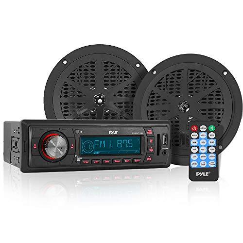 Pyle PLMRKT12BK in Dash Marine am/fm PLL-Tuning Radio mit USB/SD/MMC-Leser