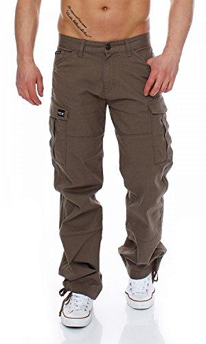 Big Seven Brian Cargo Hose Comfort Fit Herren Jeans, Farbe:Khaki, Hosengröße:W34/L32